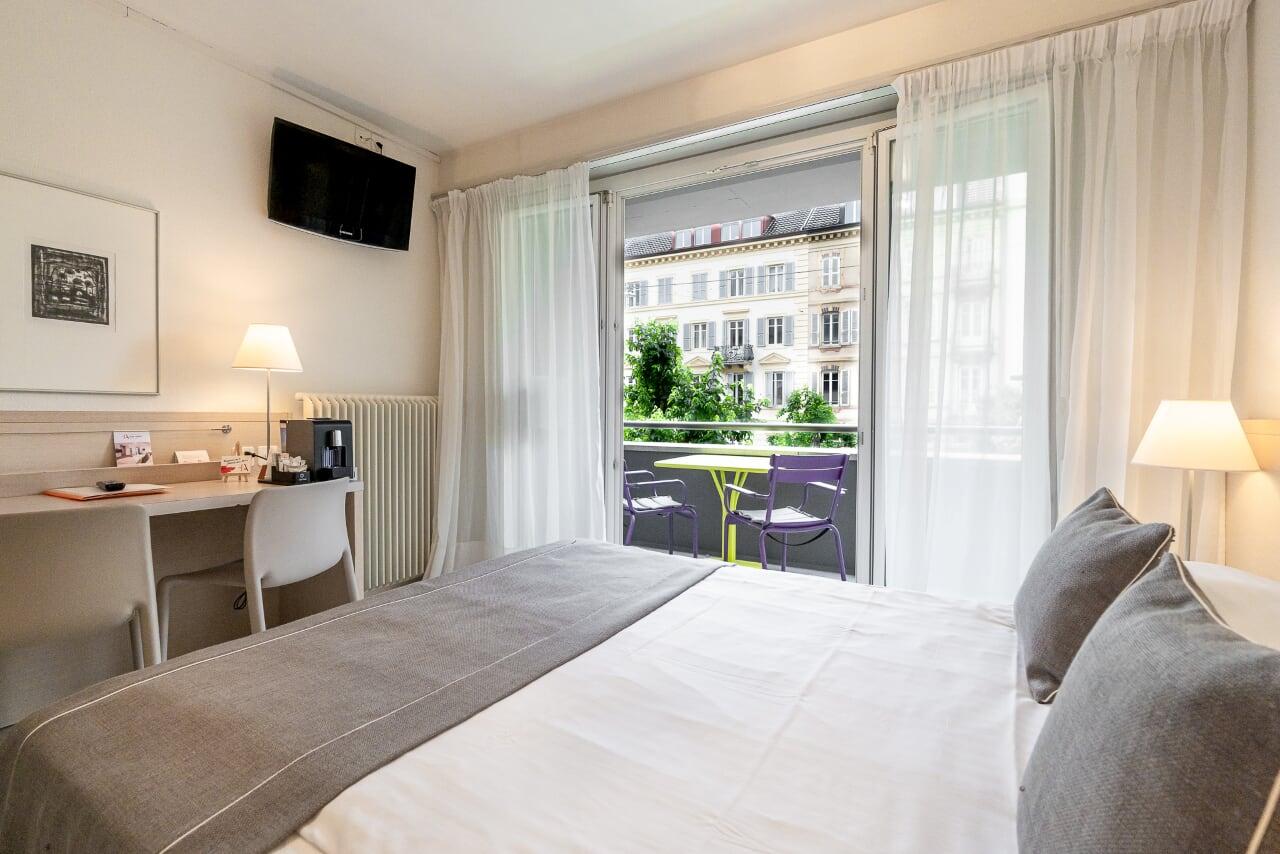 Einzelzimmer - 14m2 - für 1 oder 2 Personen   Hôtel des Arts